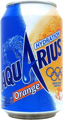 Aquarius orange blik 24x33cl