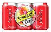 SCHWEPPES AGRUM/ZERO BLIK 6X33CL