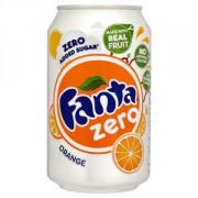 Fanta orange zero blik 24x33cl