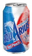 Aquarius Red Peach blik 24x33cl